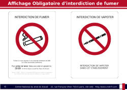 Interdiction de Fumer et de vapoter