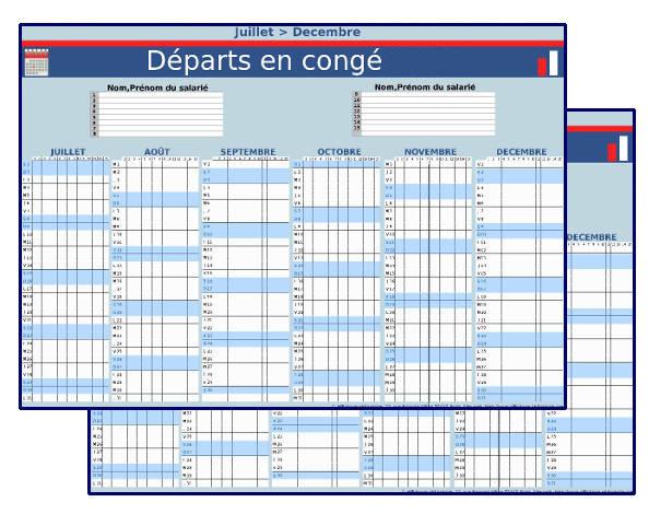 Planning des départs en congés 2019