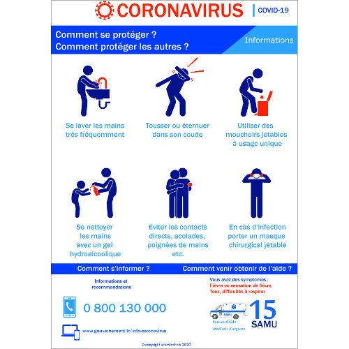 Affichage coronavirus : comment se protéger ? (covid-19)