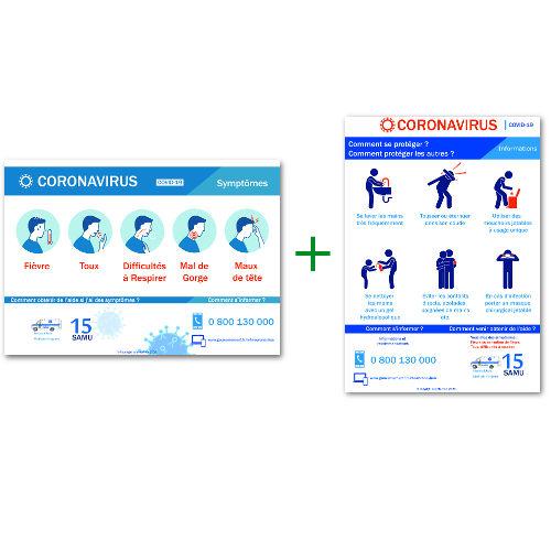 Pack affichages Coronavirus covid-19
