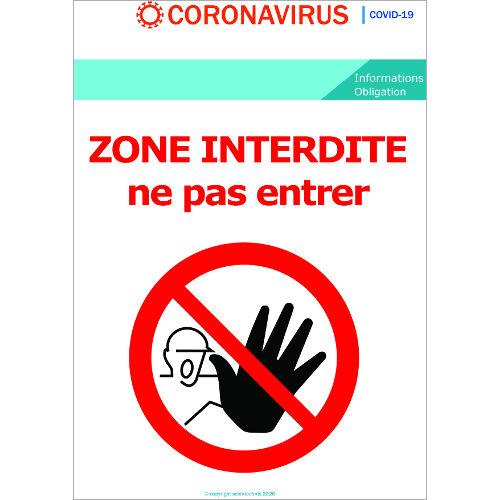zone Interdite - Signalétique  Format A3