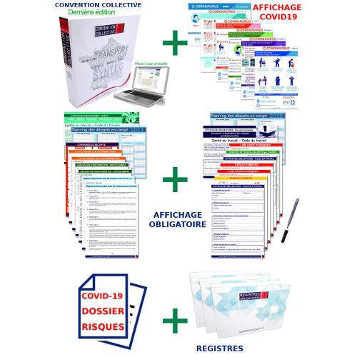 Pack mise en conformité PME, commerces, associations, artisans pour vos contrôles à partir du 1er salarié (+ les 8 affichages COVID19)