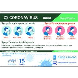 Affichage coronavirus symptômes (covid-19) Nouveau Protocole Novembre 2020