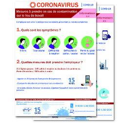 Affichage coronavirus : mesures à prendre par l'employeur en cas de contamination (covid-19) Nouveau Protocole novembre 2020
