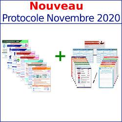 Pack affichages obligatoires Intégral 2020 + 8 affichages Covid19 inclus Nouveau Protocole Novembre 2020