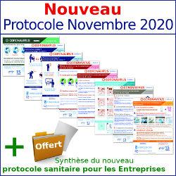 Pack affichages coronavirus : Tout inclus - 8 affichages prévention protection (covid19) Nouveau Protocole Novembre 2020