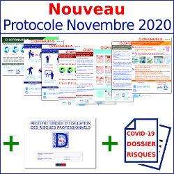 Pack 8 AFFICHAGES CORONAVIRUS + DUERP  SPECIAL CORONAVIRUS + REGISTRE DES ALERTES(Covid 19) Nouveau Protocole Novembre 2020