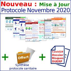 MISE A JOUR Pack affichages coronavirus : Tout inclus - 8 affichages prévention protection (covid19) - Novembre 2020